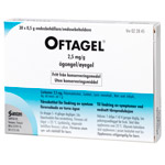 OFTAGEL 2,5mg/g Endospipetter 120X0,5g