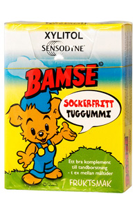Bamse Tuggummi Sensodyne ca 20st