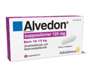 ALVEDON suppositorier 125mg 10st
