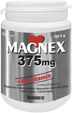 Magnex 375 mg + B6-vitamin 70st