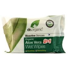 Dr Organic Aloe Vera Wet Wipes 20st