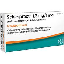 Scheriproct Suppositorium 1,3 mg/1 mg 12st