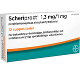 Scheriproct Suppositorium 1,3 mg/1 mg 12st