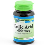 Great Earth Folic Acid 400mcg 250st