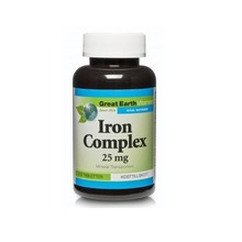 Great Earth Iron Complex 25mg 210st