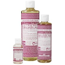 Dr. Bronner's Rose PureCastile Liquid Soap 473ml EKO