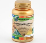 Great Earth Super Multi Minerals Premium 90st