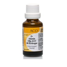 ACO D-Vitamin Olja 80 IE/droppe 25ml