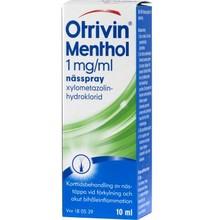 OTRIVIN Menthol 1mg/ml 10ml Utan Konserveringsm.