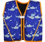 Splash About Flytande Simväst Go Splash Starter Float Jacket Shark Blue Orange