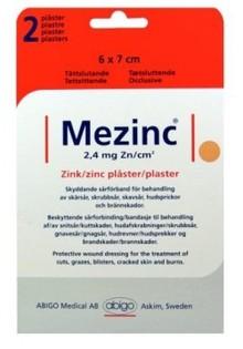 MEZINC Zink plåster 2st 6X7cm