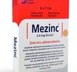 MEZINC Zink plåster 5st 6X7cm