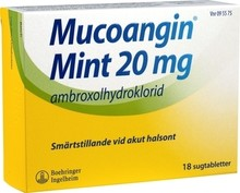 MUCOANGIN Mint Tabletter 20mg 18st