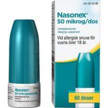 Nasonex suspension 50 mikrogram/dos 60 doser