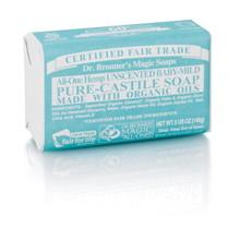 Dr. Bronner's Baby Unscented PureCastile Bar Soap 140g EKO