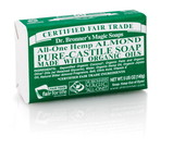 Dr. Bronner's Almond PureCastile Bar Soap 140g EKO