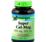 Great Earth Super Cal-Mag 600mg / 300mg 120st kaps